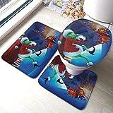 JONINOT W40cm x L60cm 3 Piezas Alfombra De Ducha Almohadilla El Grinch Absorbentes Protector Antideslizante Impermeable...