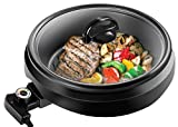 Chefman 3-IN-1 Electric Indoor Grill Pot & Skillet, Versatile - Slow Cook, Steam, Simmer, Stir…