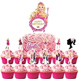Toppers for Barbie Cake Topper Cupcake Toppers, Happy Birthday Cake Toppers, Party Supplies Favor Cake Decorations