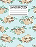 Composition Notebook: Sloth Wide Ruled Lined Notebook | Journal Diary Notepad Homework