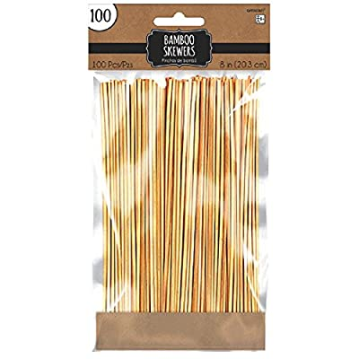 """Party Ready Durable Bamboo Skewers Serveware, 8"""", Pack of 100"""