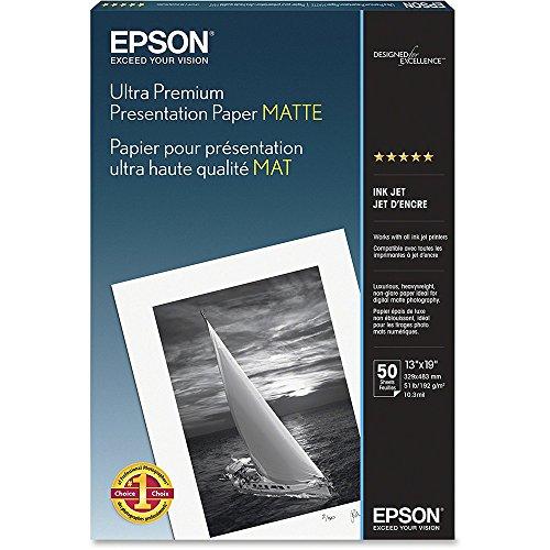 Epson Ultra Premium Presentation Paper MATTE (13x19 Inches, 50 Sheets) (S041339)