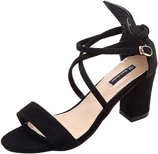 comprar comparacion Luckycat Sandalias Mujer Verano 2019 Zapatos Cuña Tacon Alto Sandalias Plataforma Mujer Sandalias De Tacón Alto para Mujer...