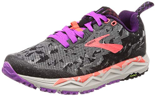 Brooks Caldera 3, Zapatillas de Running para Mujer, Negro (Black/Purple/Coral 080), 38 EU