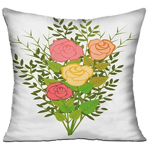 GFGKKGJFD27 Fundas de cojín de jardín de ramas florecientes de 45 cm x 45 cm de lona para fundas de almohada para sofá, regalos para adolescentes y niñas, decoración de dormitorios
