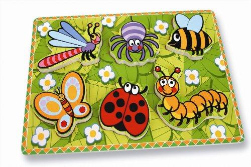 Andreu Toys 30 x 22,5 x 2 cm insecten eerste puzzel (meerkleurig)