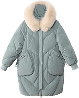 CWSY Women's Water Repellent Insulated Hooded Jacket Thick Down Jacket