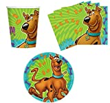 amscan Scooby-Doo Birthday Party Supplies Set Plates Napkins Cups Kit...