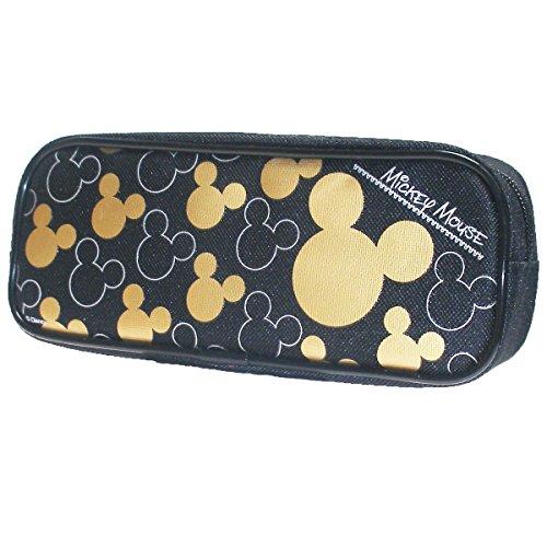 Disney Mickey Mouse Gold Black Pencil Case (1 Pencil Case)