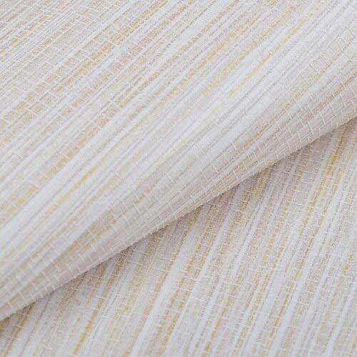 Behang natuurlijk stro-behang effen geweven textuur glad reliëf gras behang voor hotel restaurant beige grijs 10 Mt rol muursticker A02402 Slagroom.