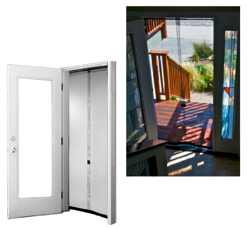 Bug Off 32 by 96 Instant Screen, Fits Tall Single Doors, New Construction Homes