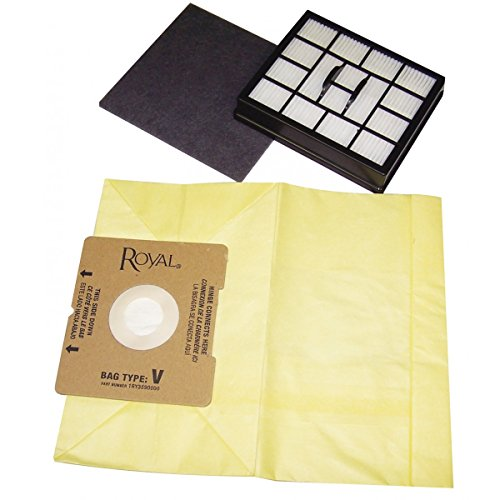 Royal Type V Aire Canister Vacuum Cleaner Bags/7 Pack Plus 2 Filters -...