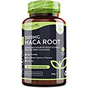 Maca Root Capsules 3500mg – 180 Vegan Capsules – High Strength Maca Root Extract – 6 Month Supply – Made in The UK by Nutravita