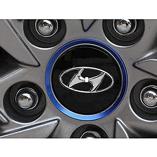 ZXKQ 4 Piezas Tapas Centrales Tapacubos, para Hyundai Tucson 60mm 2015 Centro De Rueda con Logo ProteccióN Accesorios