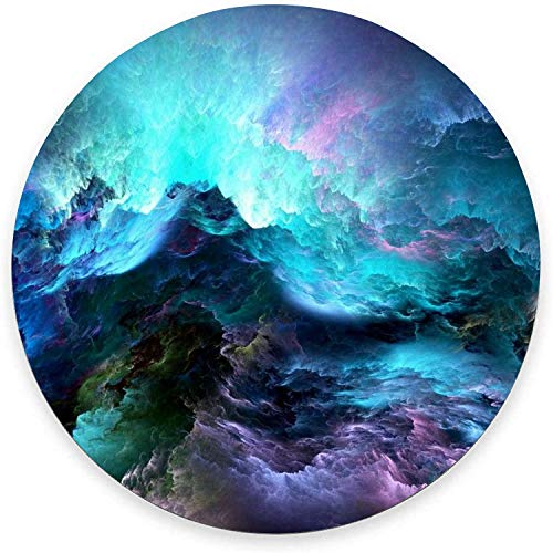 Round Mouse Pad, Rainbow Cloud Mouse Pad, Modern Pretty Gaming Mouse Mat Waterproof Circular Small Mouse Pad Non-Slip Rubber Base MousePads for Office Home Laptop Travel, 7.9'x0.12' Inch