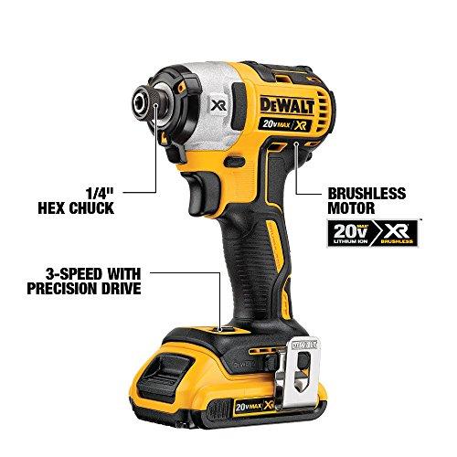 DEWALT 20V MAX XR Brushless Impact Driver and Hammer Drill Combo Kit, Premium 4.0Ah (DCK299M2)