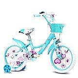 YYhkeby Bicicletas niños Bicicleta de los niños 12/14/16/18 Pulgadas de Niños y Niñas de Ciclismo, adecuados for niños de 2-9 Bicicleta, Rosa, Azul, Verde (Color: Azul, Tamaño: 12 Pulgadas) Jialele