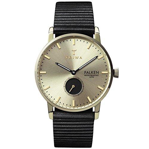 Triwa Unisex Erwachsene Chronograph Quarz Uhr mit Leder Armband FAST107-WC010117