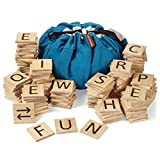 New GIGANTAGRAMS Ultimate Word Game - 146 Giant Size Wooden ABC Tiles - Indoor & Outdoor - Group...