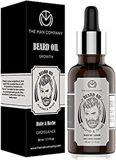 The Man Company Beard Oil for Growing Beard Faster with Almond & Thyme, Best Beard Growth Oil for Men, Nourishes & Strengt...