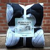 Volleyball Black Anti-Pill No-Sew Throw Fleece Fabric Kit (50x60)