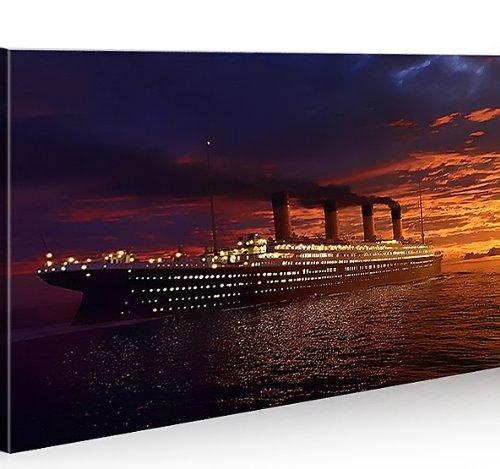 islandburner Bild Bilder auf Leinwand Titanic 1p Titanik XXL Poster Leinwandbild Wandbild Dekoartikel Wohnzimmer Marke