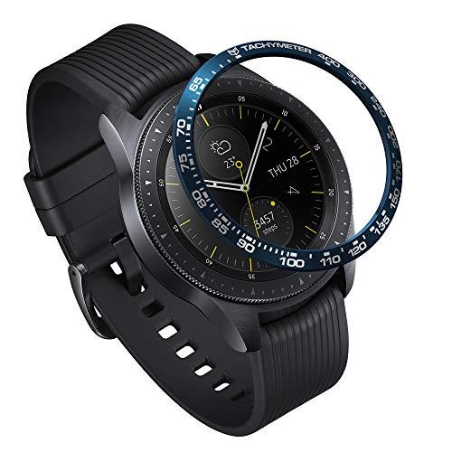 Ringke Bezel Styling for Galaxy Watch 42mm / Gear Sport Bezel Ring Adhesive Cover Anti Scratch Stainless Steel Protection [Stainless] for Galaxy Watch Accessory GW-42-03