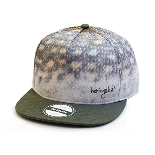 heringsküt Angel Cap I Basecap für Angler Snapback Anglerkappe Unisex I One Size 56 cm – 62 cm, Motiv Hecht