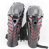 KIHUGL Nero/Rosso Moto ATV Motocross Ginocchio Guardie Pads di Protezione Armatura Ingranaggi Leg Guardie Protector Abbigliamento Protettivo Red