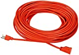 Amazon Basics 16/3 Vinyl Outdoor Extension Cord - Orange, 100 Foot