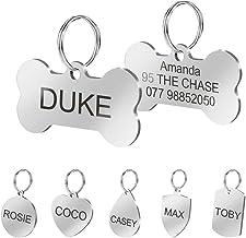 Placas Berry de identificación personalizadas de acero inoxidable para mascotas