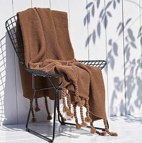 Mageelian Acryl Throw dekens -Soft Lichtgewicht Couch Deken for Camping Picnic, Beach Blanket Bedding Decor van het Huis (Color : Coffee, Size : 71