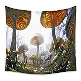 ZDDBD Setas Naranjas Tapiz decoración del hogar Dormitorio Sala de Estar L / 148X200cm (58'X79