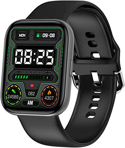 Reloj inteligente para hombres y mujeres impermeable ritmo cardíaco monitor de salud Bluetooth reloj inteligente pulsera recordatorio inteligente para Android IOS-A