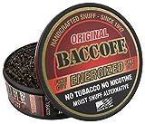 BaccOff, Original Energized Fine Cut, Premium Tobacco Free, Nicotine Free Snuff Alternative (5 Cans)