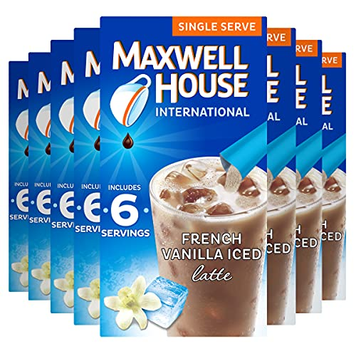 Maxwell House International French Vanilla Iced Latte 6 ct Box, 8 Pack