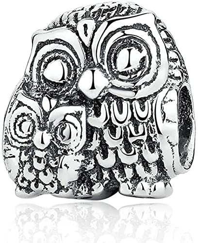 Otoño European Búhos con Encanto Búhos de plata Original 925 Sterling Silver Fits Pandora Pulsera y collar Charms DIY Jewelry