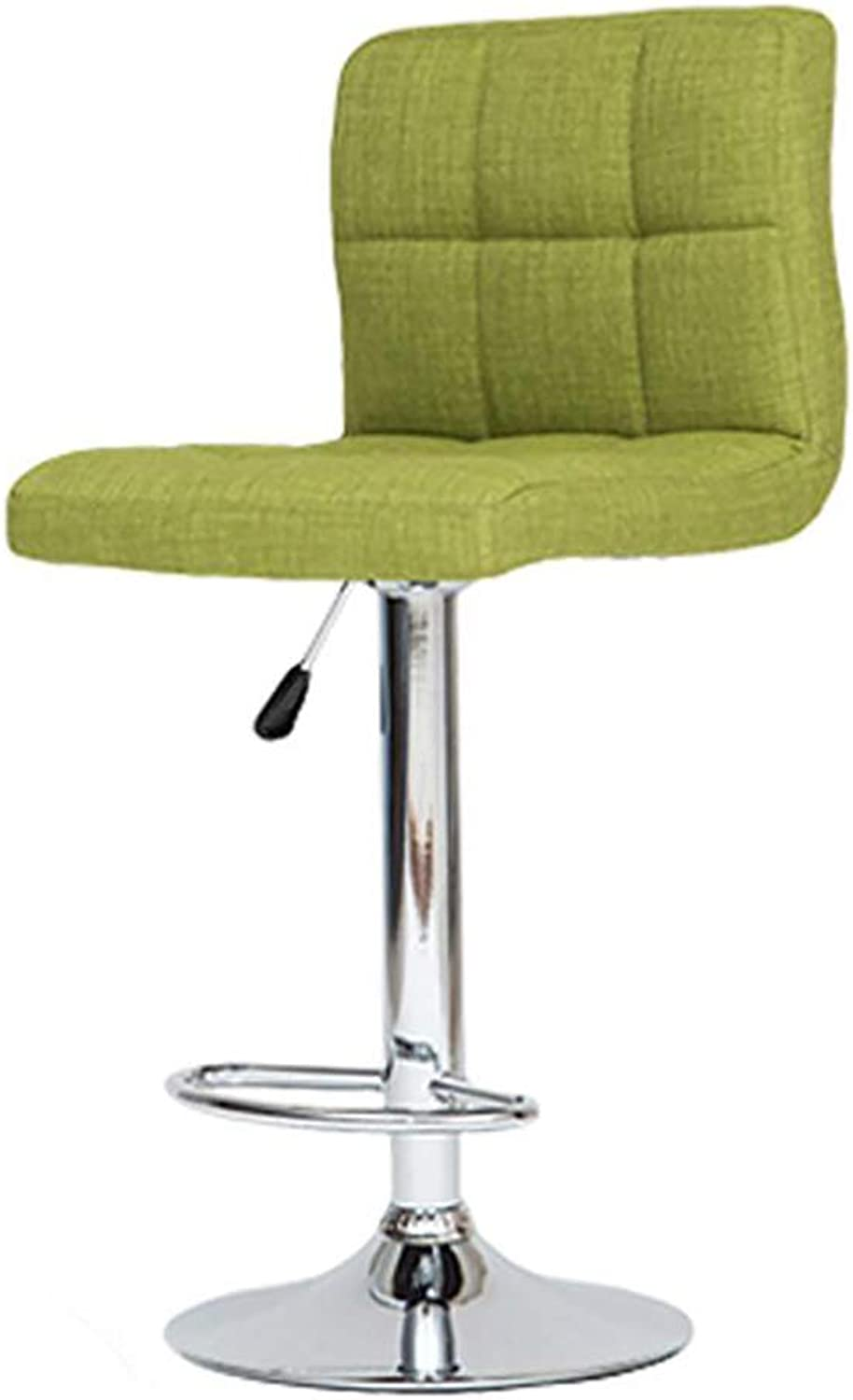 Adjustable bar Chair - Freely redating and Lifting Dining Chair, Living Room Meeting Chair-Green