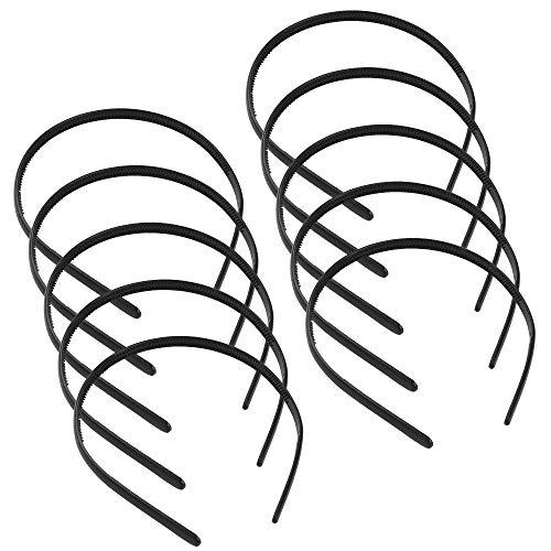 chudian 36 Stukken Plastic Hoofdbanden, Zwart Haarband Plastic Effen Hoofdband Haar Hoop Plastic Haar Hoofdbanden DIY Haaraccessoires Haar Hoop met Tanden voor Vrouwen Meisjes
