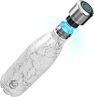CrazyCap 2.0 UV Water Purifier & Self Cleaning Stainless Steel Insulated Water Bottle - Turns Any Water Source Into Clean ...