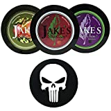 Jake's Mint Chew Cherry, BlackBerry, Apple Spice 3 Can Variety Pack with DC Crafts Nation Skin Can Cover - Punisher