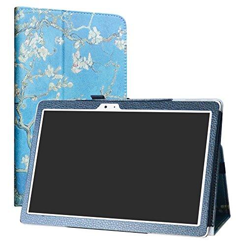"""Teclast T10 Tablet /T20 4G Custodia,LiuShan slim Sottile Pieghevole con supporto in Piedi caso per 10.1"""" Teclast T10 Tablet /T20 4G Android Tablet (Non è adatto per Teclast X10),Almond Blossom"""