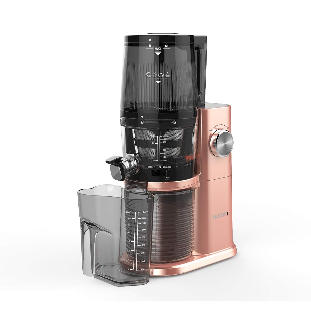 Hurom Plastic & Stainless Steel H Ai Lbd20 150 Watt Slow Juicer, Rose Gold
