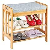 Y-M-H Zapatos Rack Shoe Banco Taburete Organizador con Cojín para El Pasillo De Entrada De Casa