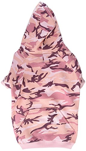 Casual Canine Camo Hoodie for Dogs, 17' Large, Pink