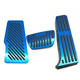 For 2018 2019 2020 Toyota Camry Non-Slip Aluminum alloy Pedal Cover Automatic Motor No Drill Brake Gas Rest Pedals Accelerator Accessories 3pcs (BLUE)