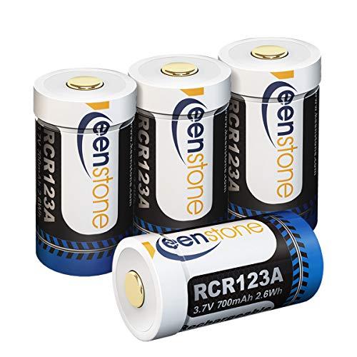 Wiederaufladbarer Arlo-Akku, 3.7 V 750 mAh Lithium Arlo Batterien mit Silikonhülle, wiederverwendbar, passend für Netgear Arlo-Kamera VMC3030 / 3230/3330/3430 (4 Stücke)