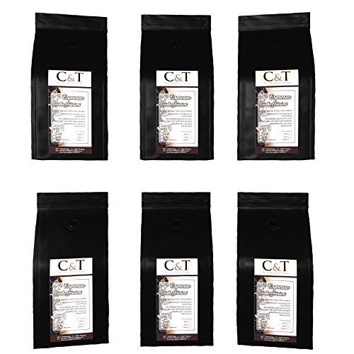 Espresso entkoffeiniert - ESPRESSO CREMA- Kaffee entcoffeiniert 6 x 200 g gemahlen