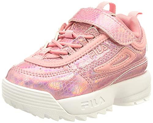 FILA Disruptor E infants F Sneaker Unisex - Bimbi, Metallic (Iridescent/Peony), 25 EU