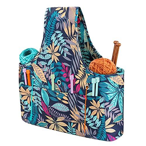 Knitting Tote Bag Large Capacity, Globalstore Yarn Storage Organizer Knitting...
